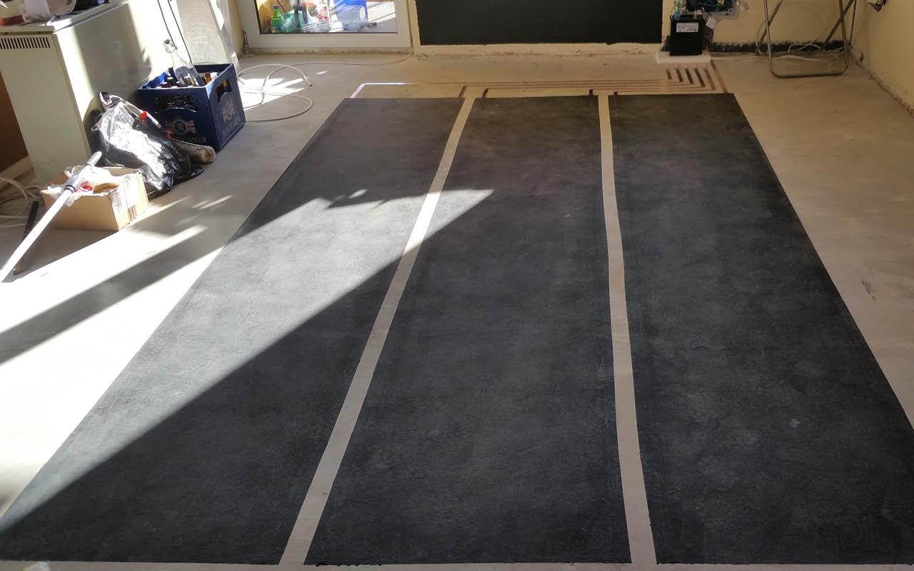 Heizanstrich als Fußbodenheizung
